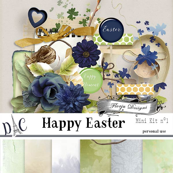 Happy Easter { Mini Kit 1 PU } by Florju Designs