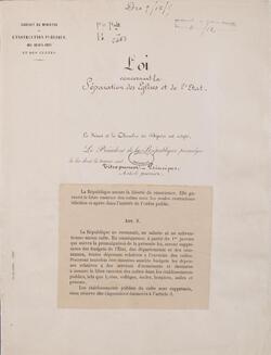 LES GRIGNOTAGES DE LA LOI 1905 ET LA LAÏCITÉ -1-