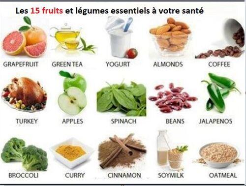 Les aliments bienfaits dans notre assiette