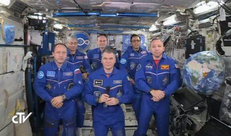 Equipe de la Station spatiale, capture CTV