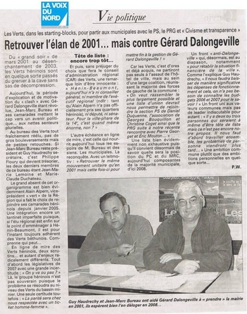 03 3 mars Les verts dans les starting blocks contre Dalongeville