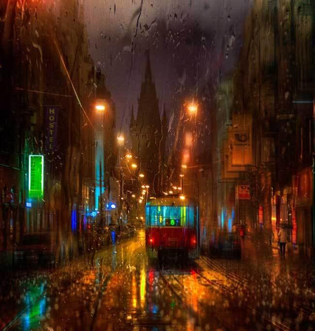 eduard gordeev photographies urbaines peinture style 1 - Ces Photos Urbaines sous la Pluie Ressemblent à des Peintures