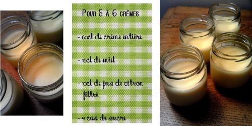 Crèmes miel - citron