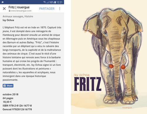 FRITZ : A paraître le 31 octobre 2018
