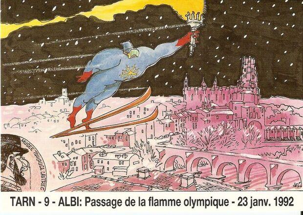 - Janvier 1992 - Passage de la flamme Olympique