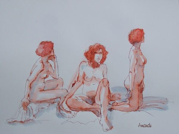 Dimanche - Croquis rouges