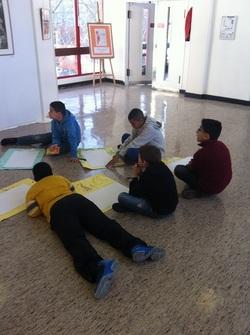 Atelier à l'école d'arts plastiques