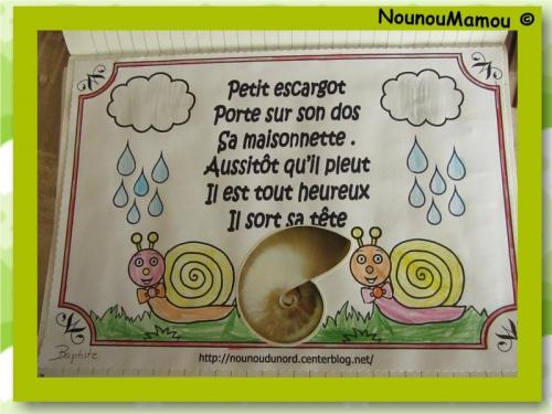 Comptine illustrée : Petit escargot
