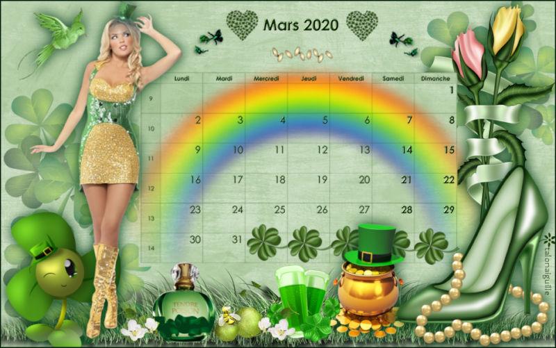 *** Calendrier de Mars 2020 ***