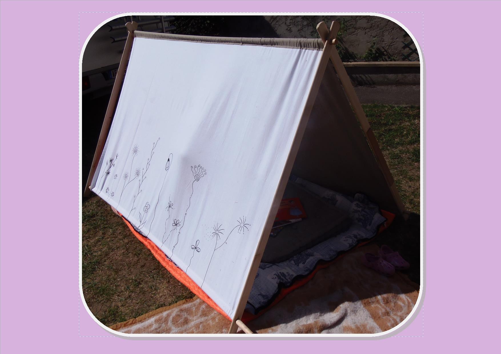 Fabriquer une tente pour le jardin - mes dimanches en hiver
