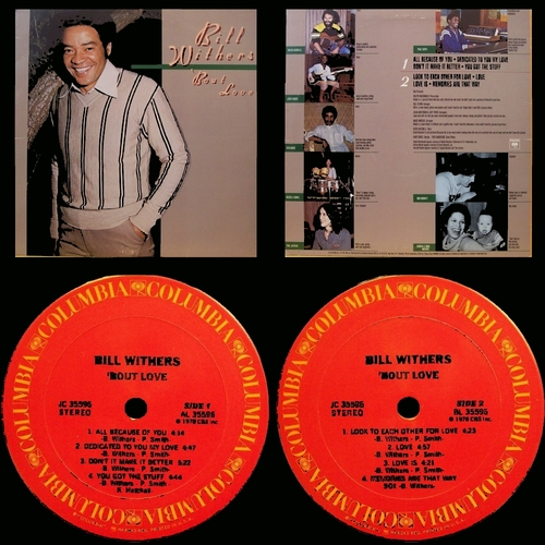 "Bill Withers : Album "" 'Bout Love "" Columbia Records JC 35596 [ US ]"