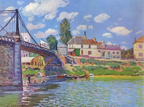 Alfred Sisley, Pont de Villeneuve-La-Garenne