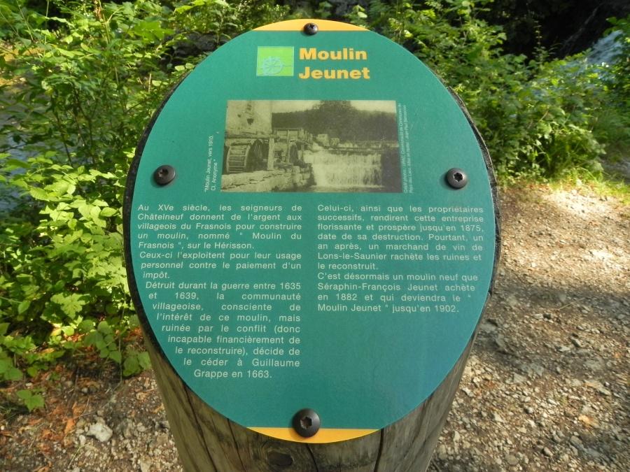 Le moulin Genet sur le parcours du Hérisson