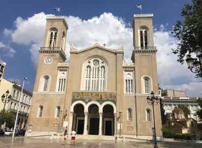 Athènes - cathédrale Mitropolis (annonciation de la vierge Marie