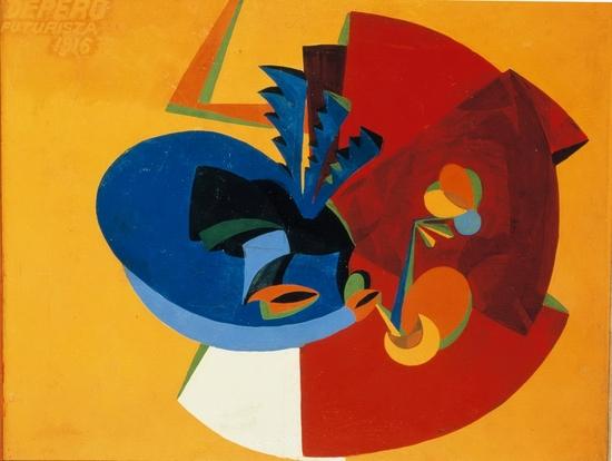 Fortunato Depero, Mouvement d'oiseau, 1916
