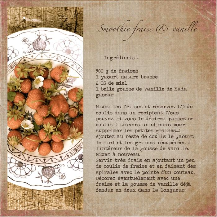 Smoothie fraise & vanille