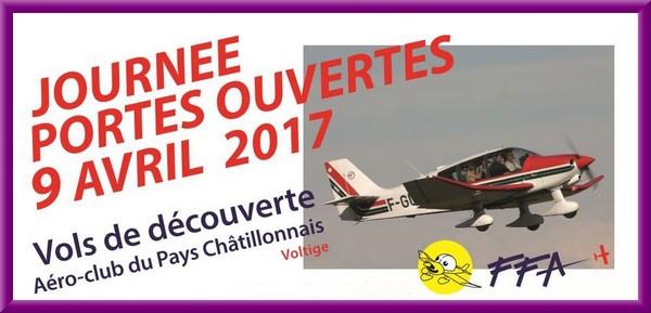 """Journée """"Portes ouvertes"""" demain à l'Aéro-club de Châtillon sur Seine"""