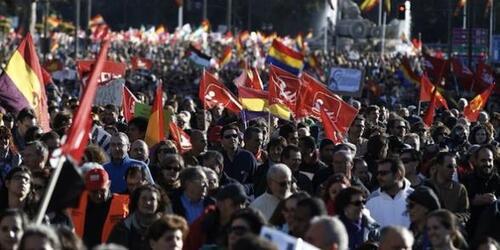 La plus grande manifestation de l'histoire récente de l'Espagne