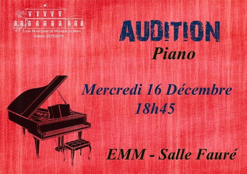 Audition classe de piano