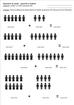 Nombres et quantités GS