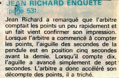 enquête de Jean Richard n° 22