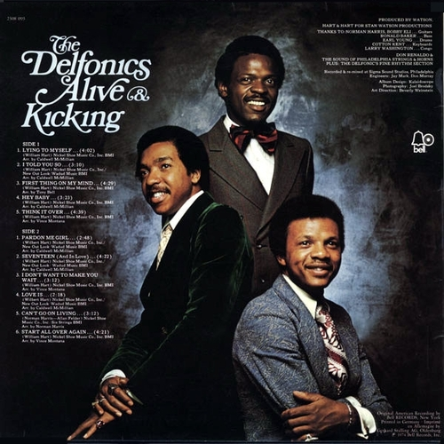 "The Delfonics : Album "" Alive & Kicking "" Philly Groove Records PG 1501 [ US ]"