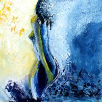 D'eau et de lumière - Huile sur toile - 0,40 x 0,40