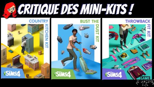 Critique des minis-kit Sims 4 : cuisine rustique, look rétro, nettoyage de printemps