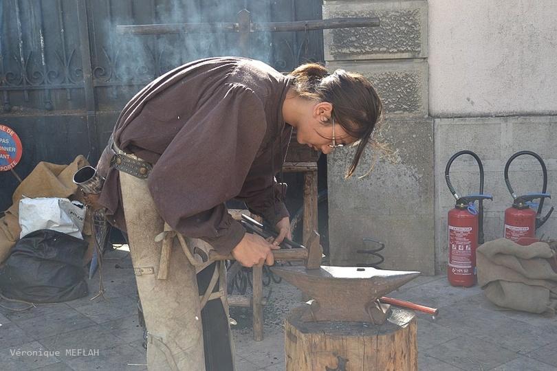Rambouillet : La Saint Lubin : Métiers d'autrefois : Le forgeron