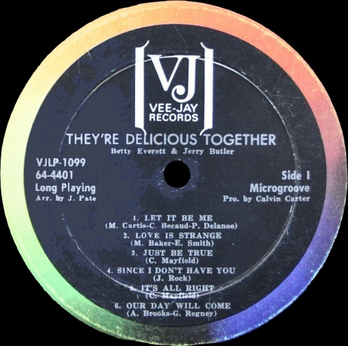 "Betty Everett & Jerry Butler : Album "" Delicious Together "" Vee-Jay Records VJLP 1099 [ US ]"