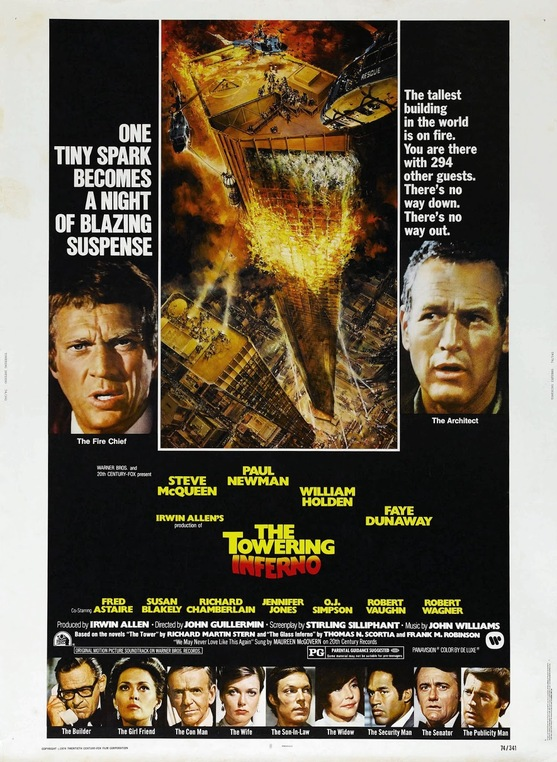 LTHE TOWERING INFERNO US POSTER