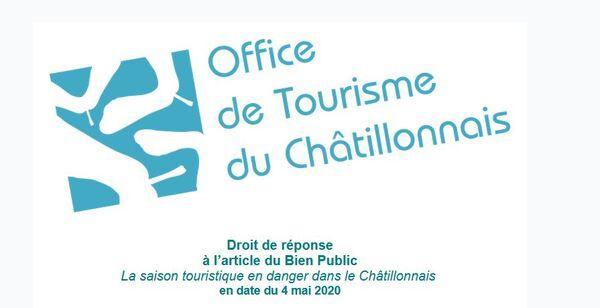 Droit de réponse de l'Office de Tourisme du Pays Châtillonnais