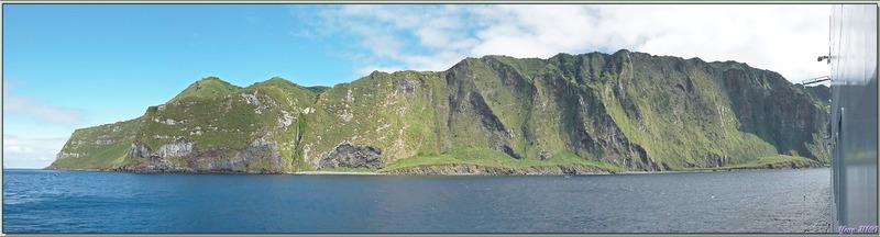 Vues panoramiques d'Inaccessible Island - Tristan da Cunha