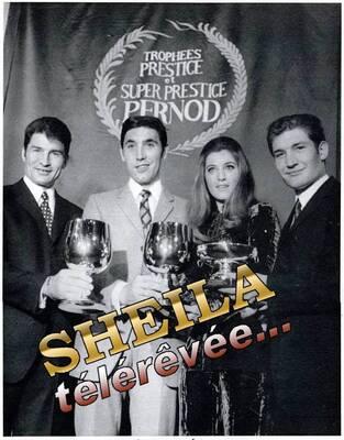 Novembre 1969 / Sheila et les vainqueurs cyclistes 1969