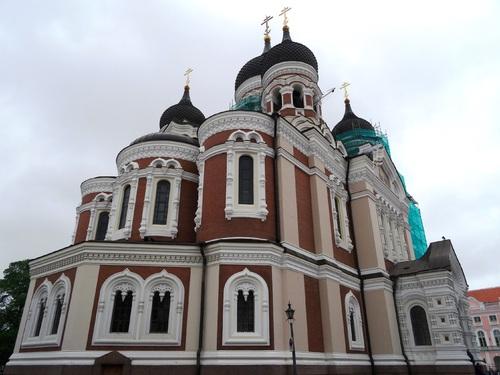 Tallinn en Estonie: autour de la cathédrale orthodoxe Alexandre Nevsky (photos)