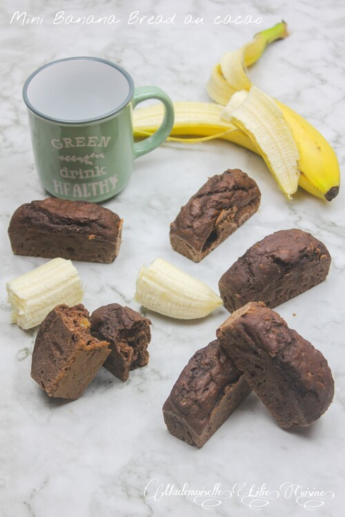 Mini Banana Bread au cacao