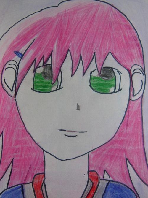 Petite fille (vieux dessin)