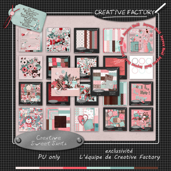 "Collab Crative Factory ""Sweet Santa"" en freebie"