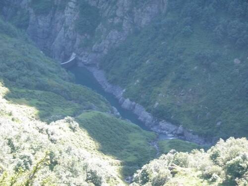 Lac de barrage de la Bajulaz