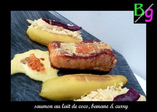 saumon lait de coco, banane curry