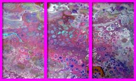 """Dessin et peinture - vidéo 2603 : Comment passer de la peinture fluide au """"pouring méthode"""" avec silicone? peinture acrylique."""