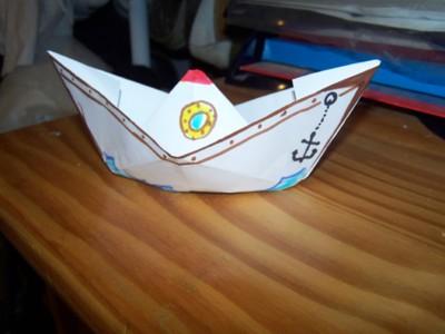 Blog de chipiron :Un chipiron dans les Landes, Résultat du bâteau en papier