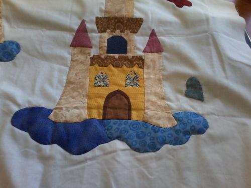 """Plaid """"Le Château des fées"""" - """"Fairy Castle"""""""