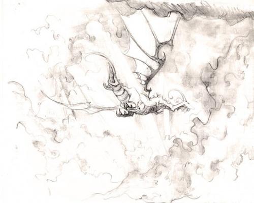 dragons dans les nuages