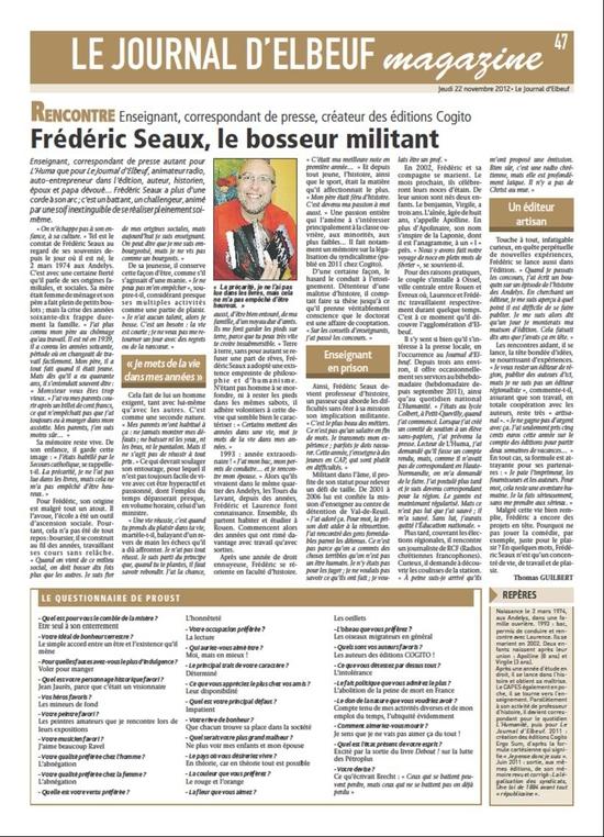 journal d'Elbeuf - 22 11 2012