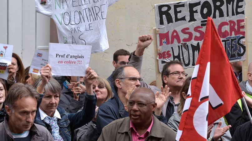 Mardi, 27,61% des professeurs des collèges publics ont fait grève selon le ministère, et «plus de 50%» selon le Snes-FSU.