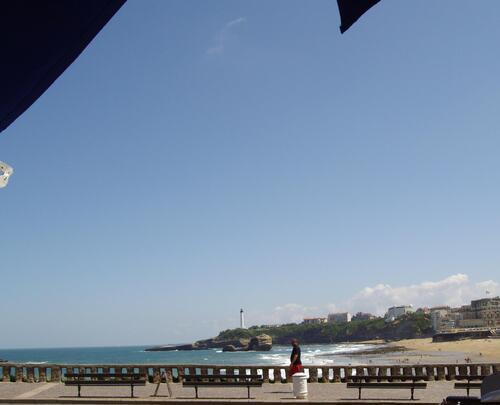 Biarritz, Tandem Café, vue imprenable