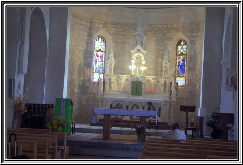 St Denis d'Oléron le Port et l'Eglise  (février 2014)