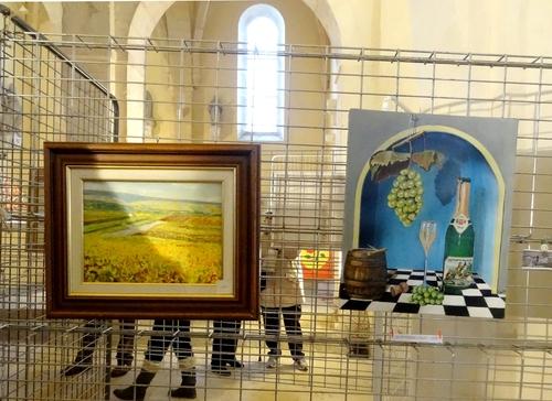 La Section Peinture des  Amis du Châtillonnais a exposé à Saint Vorles pour la Saint Vincent tournante des Crémants de Bourgogne ...