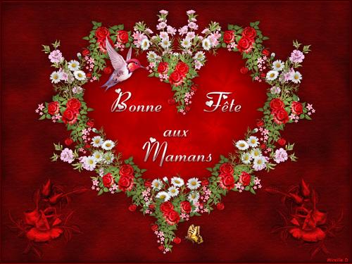 Coeur en Fleurs pour la Fête des Mères
